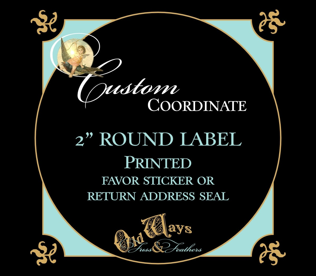 Personalized Tinkerbell Circle Return Address Label Stickers