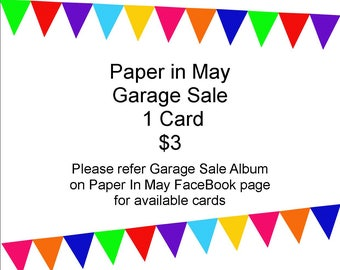 Paper in May Garage Sale - 1 card