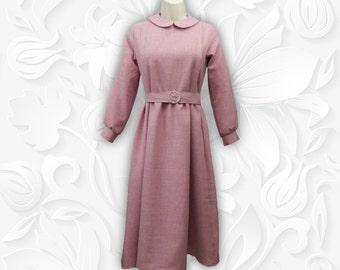 Peter Pan Collar Vintage Style Modest Tznius Dress Misses Petite Midi Maxi Made to Order