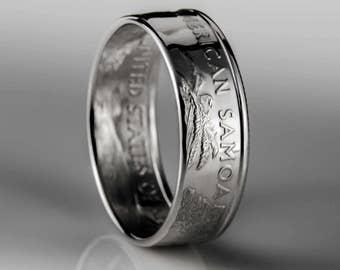 American Samoa Quarter - Coin Ring - SILVER (.900)