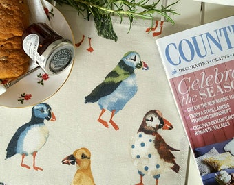 Puffin Fabric Dining Placemats - in driftwood cream or pumice grey 100% cotton