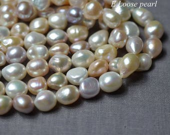 Baroque pearl Large Hole Freshwater Pearl Potato Loose Pearls Baroque pearl necklace Mixed Color 11.5-12.5mm 30pcs Full Strand PL3154
