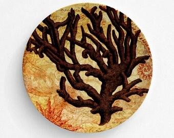 Ocean Sea Coral Melamine Plate, Melamine Plate, Sea Coral Plate, decorative plate, Dinner Plate, Serving Plate