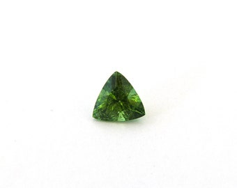 Green Tourmaline Faceted Gemstone 0.6 ct 6.2x6.3x2.9 mm Free Shipping