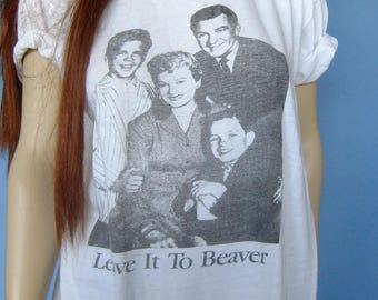 vintage leave it to beaver tshirt, vintage tee, leave it to beaver, retro tee