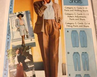 Pants and walking shorts, sewing pattern,  Size 4-22