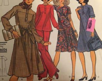 Vogue 9097, misses top,  dress, shirt dress, size 16