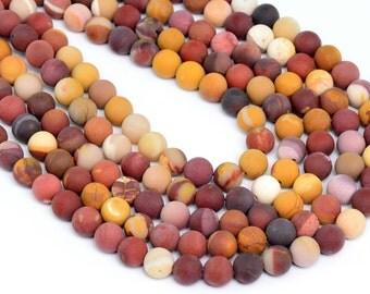 "4MM Matte Mookaite Beads Grade AAA Natural Gemstone Full Strand Round Loose Beads 15"" BULK LOT 1,3,5,10 and 50 (100274-825)"