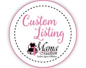 Custom Listing For TigaCub...Woman's Retro Apron Featuring Company Logo On Pocket