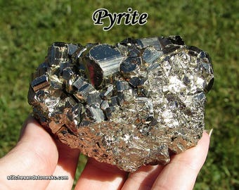 """Pyrite Fool's Gold 79mm (over 3"""") for crystal healing, meditation, and prosperity"""