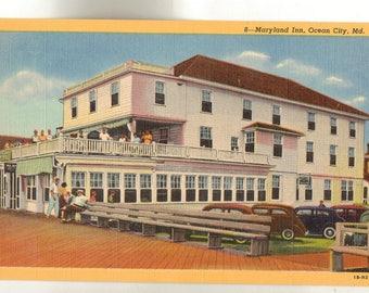 Linen Postcard, Ocean City, Maryland, Maryland Inn, ca 1945