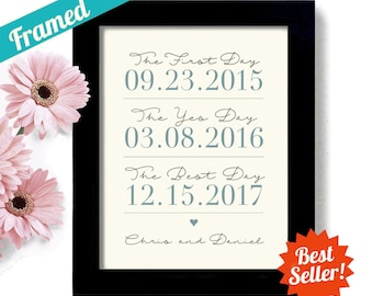 Couples Wedding Date Wedding Gift New Engagement Their Special Day Bride Groom Anniversary Date Special Date Wife to Husband Gift