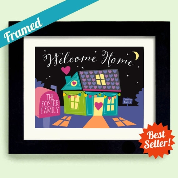 First Home Welcome Home Personalized Wedding Gift Welcome Gift Housewarming Gift New House Realtor Gift New Home Gift Newlywed Gift
