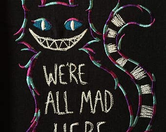 We're All Mad Here Cheshire Cat--GLOWS! 100% cotton towel