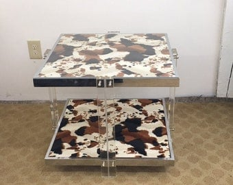 Mid Century Modern chrome and lucite table | Gre-Stuff