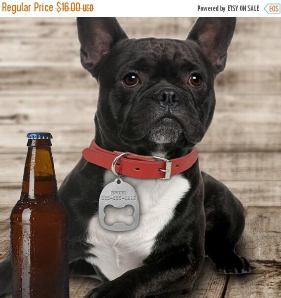 35% OFF SALE Custom Dog Collar ID Tag Bottle Opener