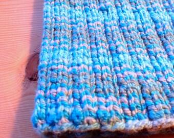 "Medium ""Surf"" PICC Line / IV Cover (Armband), blue, grey, slate, teal, neutral, stripes, striping"