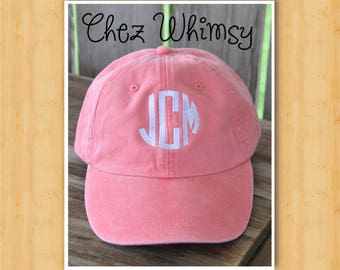 Monogram Baseball Cap, Monogrammed Baseball Cap, Distressed Cap, Personalized Cap, Ball Cap, Bridal Party Caps, Sorority Cap