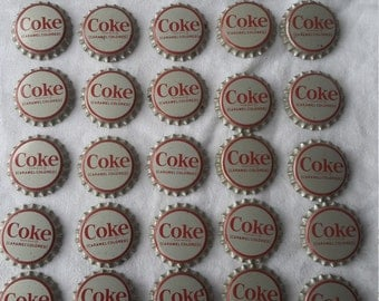 Lot of 30 vintage 1960's Coke bottle caps unused cork lined Atlanta Georgia USA Coca-Cola
