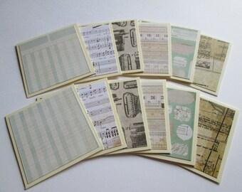 Mini Note Cards >> set of 12//Mini Note Cards//Note Card set//Mini Cards/Mini Blank Cards//Blank Cards