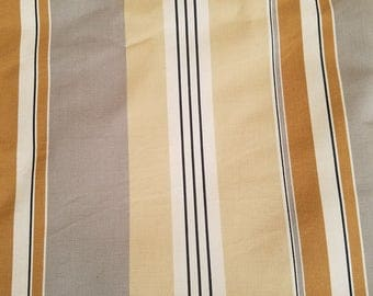 Home Decor Upholstery Fabric//Grey and Tan Stripe
