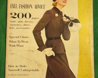 Sept 1955 GLAMOUR Fashion MAGAZINE