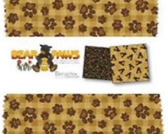 Benartex - Bear Paws Charm Pack