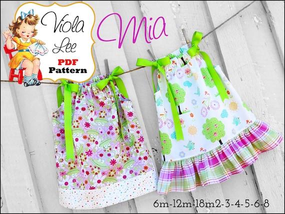 Mia Girls Pillowcase Dress Pattern. Girls Dress Patterns. Girls Sewing Patterns. pdf Sewing patterns, Baby Sewing Patterns, Toddler Dresses