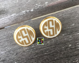Adorable Monogram Personalized Earrings Monogrammed Earrings