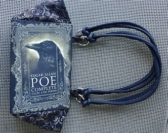 Ready to ship - BOOK PURSE - Edgar Allan Poe Complete Tales and Poems - Ready To Ship