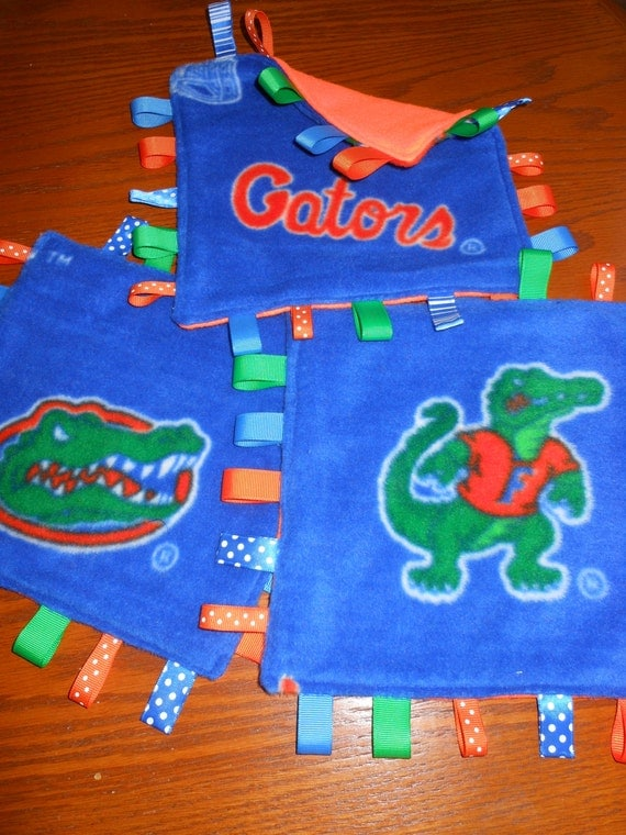 Florida Gators Baby tag Fleece Lovey Blankie