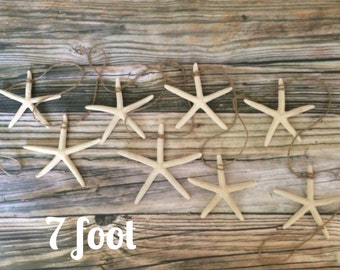 Starfish Beach Wedding Garland, Starfish Garland, 7 foot Garland, Christmas Garland, Beach Garland, Beach Wedding Garland, Nautical Garland
