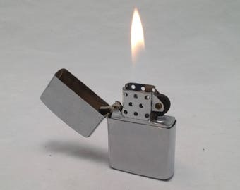 1960s My-Lite Korea Flip-Top Lighter - Zippo Clone - Rebuilt with new wick, flint - working like new - Many available