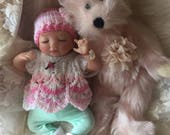 Completed Little Reborn Baby Jocelyn from the Byron 10 inch Kit Micro Preemie