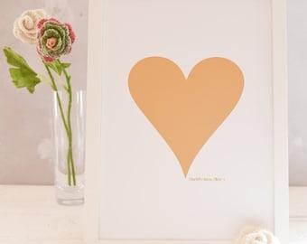 Valentine Heart Print, Wall Art Print, Valentine Gift, Love Print, Gift For Wife, Girlfriend Print, Couple Gift, Wall Art,