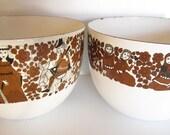 Reserved EK Vintage Finel Knight Ritari Enamelware Bowls