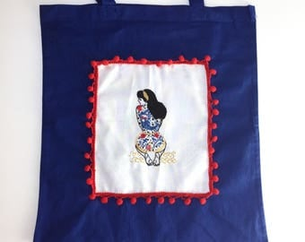 Embroidery KIT TOTE BAGThe Summer Tattooed Lady