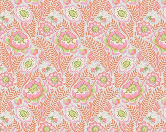 PRESALE - Spirit Animal - Petal Heads in Starlet - Tula Pink for Free Spirit - PWTP103.STARL - 1/2 Yard