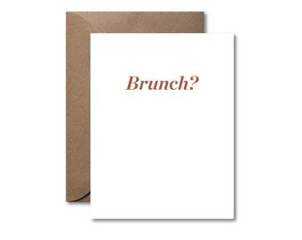 Brunch?  |  Letterpress Card