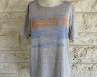Vintage Husker Du T shirt Threadbare Rare band Shirt 80's Punk Band T shirt Paper Thin Medium Tee