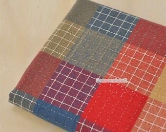 Yarn Dyed Colorful Linen Cotton Fabric,Gingham,Plain Fabric,Medium thickness,fresh Style,diy,fabric,Sewing--1/2 yard (QT1015)