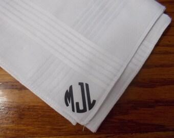 Monogrammed Mens Handkerchief HTV