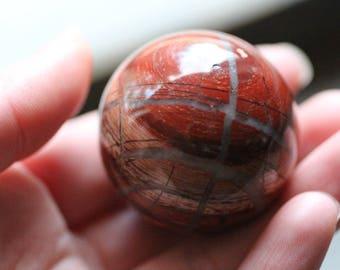 40 mm Red Snakeskin Jasper Sphere #82808