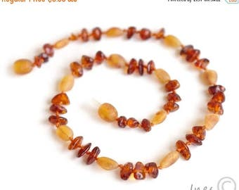 CHRISTMAS SALE Baltic Amber Baby Teething Necklace
