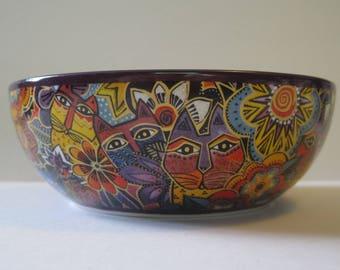 Laurel Burch Cat Dish - Bowl