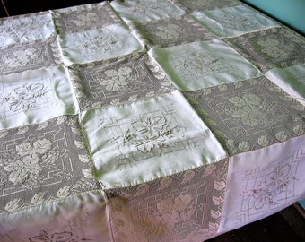 Embroidered Lace Tablecloth Elegant Ecru Filet Lace Squares Embroidered Leaf Linen Squares Lace Edged Wedding Table Cover 50 X 68 Excellent