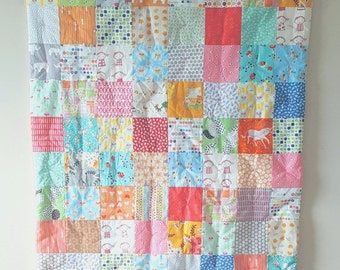 HALLOWEEN SPECIAL SALE Crib Quilt - Baby Quilt - Toddker Quilt - Modern Crib Quilt - Baby Comforter - Mint Quilt