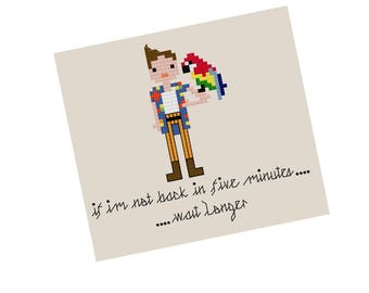 Ace Ventura Cross Stitch Pattern - Modern Cross Stitch Pattern - Jim Carrey Cross Stitch