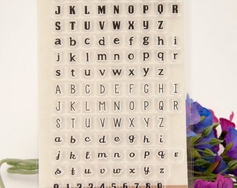 Alphabet Numbers Rubber Stamps Writing Blocks Stamp Travel Stamps