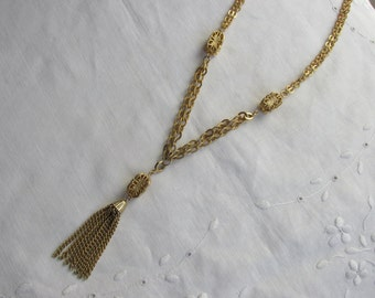 Necklace - Tassel Necklace - Emmons - Vintage